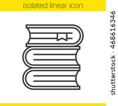 books stack linear icon. thin... | Shutterstock .eps vector #468616346