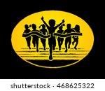 winner running  group of... | Shutterstock .eps vector #468625322