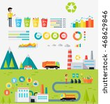 waste recycling infographic... | Shutterstock . vector #468629846