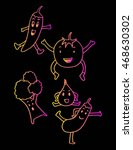 hand drawn illustration... | Shutterstock .eps vector #468630302