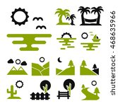 landscape icon set | Shutterstock .eps vector #468635966