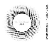 black and white halftone dotted ...   Shutterstock .eps vector #468642536