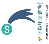 lucky money icon with bonus...   Shutterstock .eps vector #468644636
