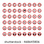 big set of weight  length  high ... | Shutterstock .eps vector #468645806