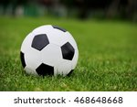 close up soccer ball on green... | Shutterstock . vector #468648668