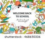vector illustration back to... | Shutterstock .eps vector #468650336