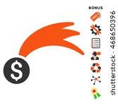 lucky money icon with bonus...   Shutterstock .eps vector #468650396