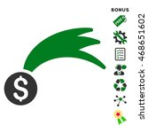 lucky money icon with bonus...   Shutterstock .eps vector #468651602