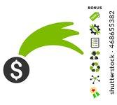 lucky money icon with bonus...   Shutterstock .eps vector #468655382