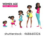 set of characters in cartoon...   Shutterstock .eps vector #468660326