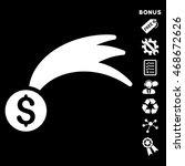 lucky money icon with bonus...   Shutterstock .eps vector #468672626