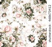 watercolor seamless pattern... | Shutterstock . vector #468673412