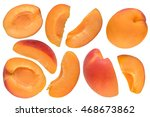 Set Of Apricot Cuts Isolated On ...