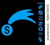 lucky money icon with bonus...   Shutterstock .eps vector #468676472