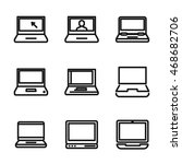 laptop vector icons. simple...