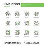 animals   set of modern vector... | Shutterstock .eps vector #468683036
