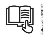 read book | Shutterstock .eps vector #468683102