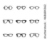 glasses vector icons. simple...