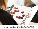 hairdresser salon visitor...   Shutterstock . vector #468684632
