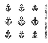 anchor vector icons. simple...
