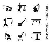 construction crane vector icons....