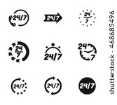 24 7 vector icons. simple...