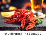 Boiled Red Crayfish Or Crawfis...