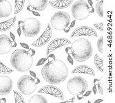 seamless orange pattern. fresh...   Shutterstock .eps vector #468692642