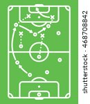 football   soccer tactic table. ... | Shutterstock .eps vector #468708842