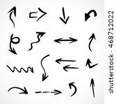 hand drawn arrows  vector set | Shutterstock .eps vector #468712022