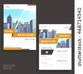 contemporary brochure template... | Shutterstock .eps vector #468714542