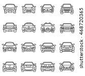 cars icons set. thin line design | Shutterstock .eps vector #468720365