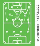 football   soccer tactic table. ... | Shutterstock .eps vector #468721322