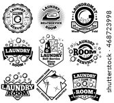 Set Of Vector Laundry Badges....