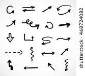 hand drawn arrows  vector set | Shutterstock .eps vector #468724082