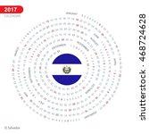 2017 calendar  el salvador... | Shutterstock .eps vector #468724628