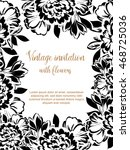 vintage delicate invitation...   Shutterstock .eps vector #468725036