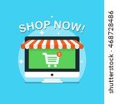 online shopping and e commerce... | Shutterstock .eps vector #468728486