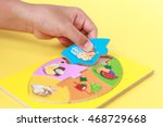 close up hand of kid holding... | Shutterstock . vector #468729668