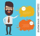 businessman employee concept... | Shutterstock .eps vector #468733052