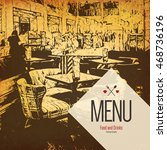restaurant menu design. vector... | Shutterstock .eps vector #468736196