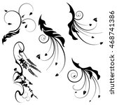 black and white ornaments ... | Shutterstock .eps vector #468741386