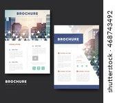 modern brochure template design ... | Shutterstock .eps vector #468743492