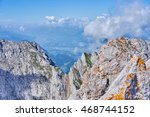 rocky peaks of wilder kaiser in ... | Shutterstock . vector #468744152