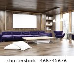 living room interior with large ... | Shutterstock . vector #468745676