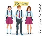 vector cartoon flat students...   Shutterstock .eps vector #468746156