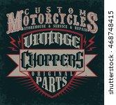 creative t shirt graphic design ... | Shutterstock .eps vector #468748415