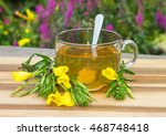 clear cup of herbal tea from... | Shutterstock . vector #468748418
