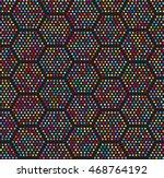hexagon dots seamless pattern | Shutterstock .eps vector #468764192
