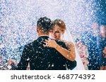 first wedding dance of newlywed | Shutterstock . vector #468774392